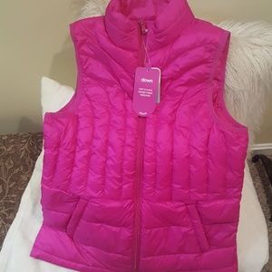 Be Inspired Packable Down Vest NWT Small